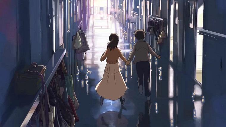 Byousoku 5 Centimeter - Takaki and Kanae Running Best Anime Movies to Kick-Start 2016