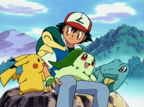 Pokemon_Ash, Pikachu, Starters