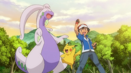 Pokemon XY_Ash, Pikachu, Goodra