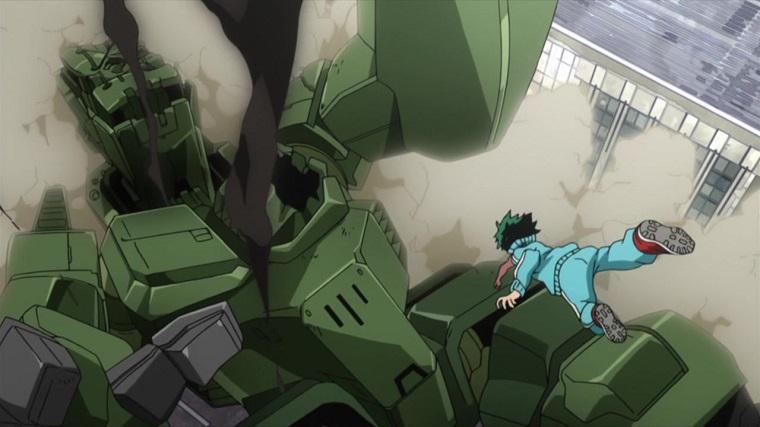 Boku no Hero Academia, Deku punching robot