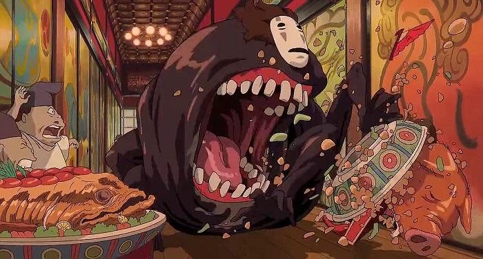 Kaonashi or No-Face, from Sen to Chihiro no Kamikakushi aka Spirited Away by Hayao Miyazaki