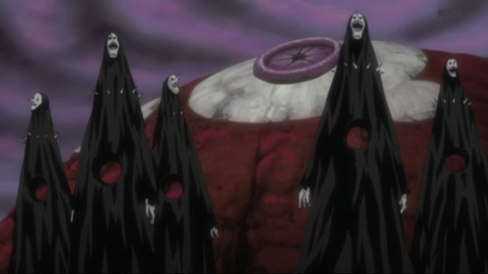 The Gillian Hollows or Menos Grande are anime monsters in the anime Bleach
