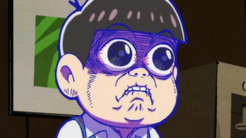 Todomatsu Matsuno with hilarious grimace, Osomatsu-kun
