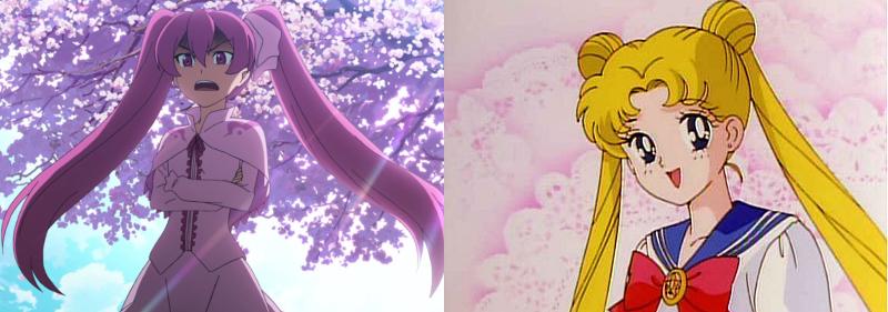 Mine and Usagi Tsukino with twintails, Akame ga Kill! and Sailor Moon