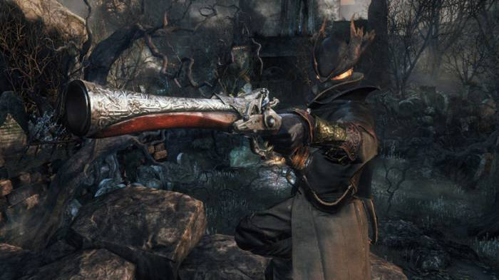 The Hunter holding musket, Bloodborne