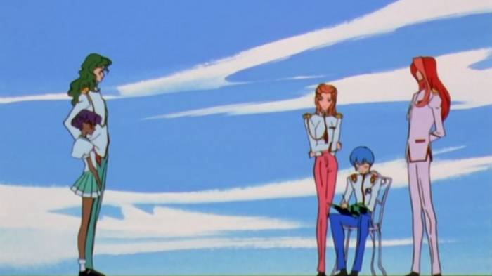 Anthy Himemiya, Juri Arisugawara, Miki Kaoru meeting at council meeting, Revolutionary Girl Utena