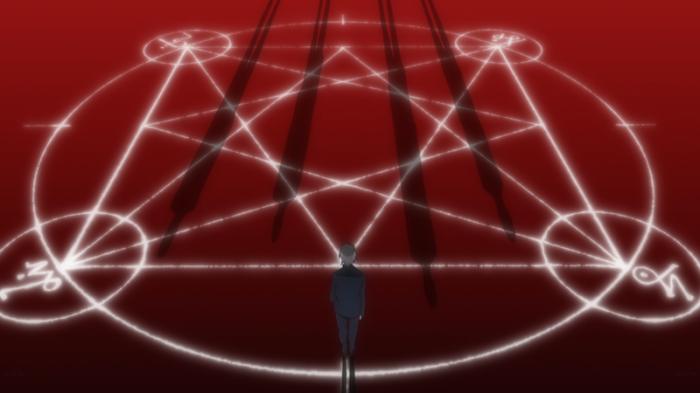 Kaworu Nagisu standing over SEELE sigil, Evangelion 3.0