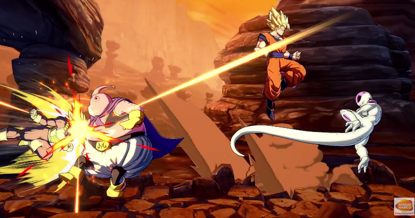 Dragon Ball FighterZ Goku Majin Buu Frieza Vegeta