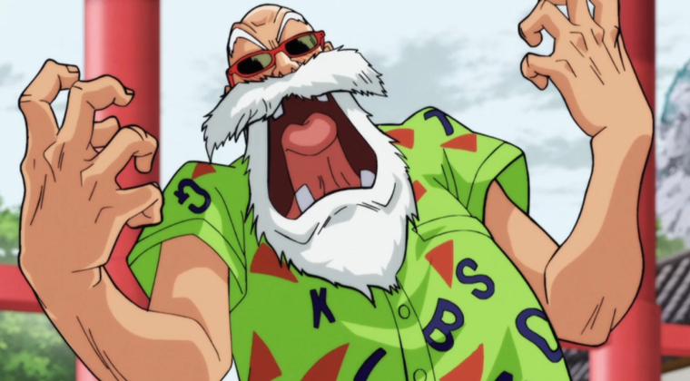 Master Roshi can't contain himself, Master Roshi, Dragon Ball Super