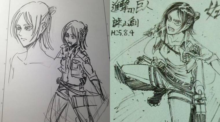 Eren Yeager sketched as a female, Eren Yeager, Attack on Titan