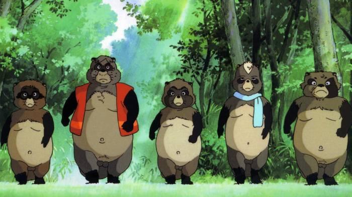 Okiyo Shoukichi and Tamasaburou walking through forest, Okiyo, Shoukichi, Tamasaburou, Heisei Tanuki Gassen Ponpoko