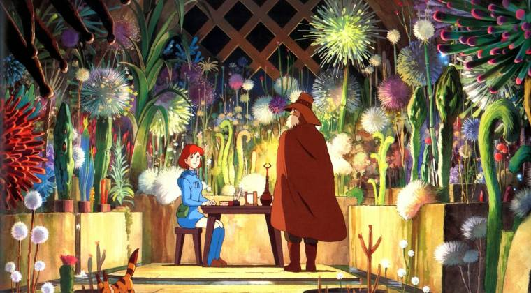 Nausicaä chatting to Lord Yupa, Nausicaä of the Valley of the Wind